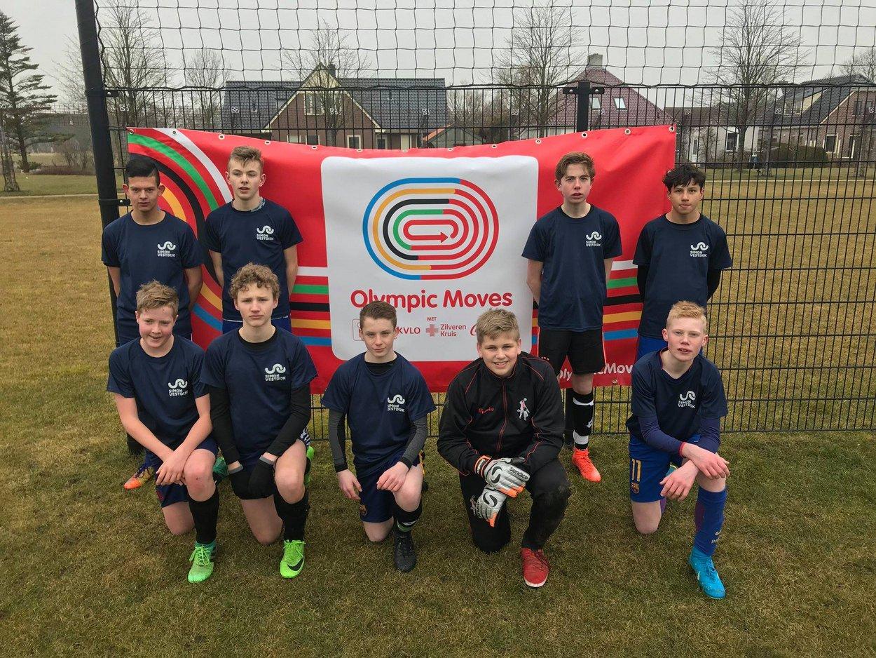 Het team bestaande uit spelers uit de 2e en 3e klas.