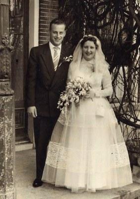 60-jarig huwelijksjubileum Albert Dijkstra en Dora Dijkstra-Terpstra