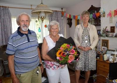 60 jarig huwelijksjubileum Jan Ligthart en Geesje Prins