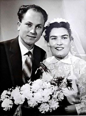 60 jarig huwelijksjubileum Sjoerd Koster en Jannie van der Veen