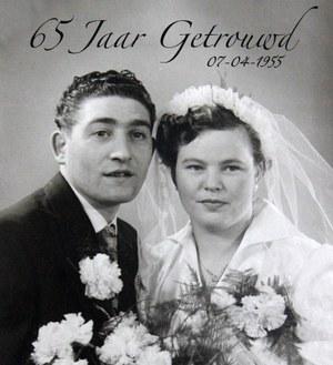 65-jarig huwelijksjubileum Fetzen van der Veen en Heintje van der Veen-Tichelaar