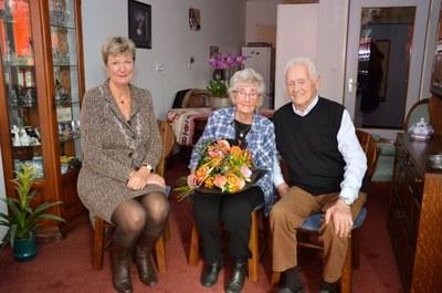 65-jarig huwelijksjubileum Henk Kuipers en Tiny Kuipers-Beekema