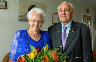 Briljanten huwelijksjubileum voor echtpaar Jan Bolt en Johanna Dijkman